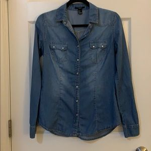 Forever 21 Denim Button-Up Shirt